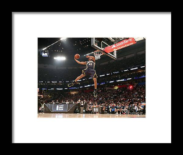 Event Framed Print featuring the photograph Verizon Slam Dunk Contest 2017 by Nathaniel S. Butler