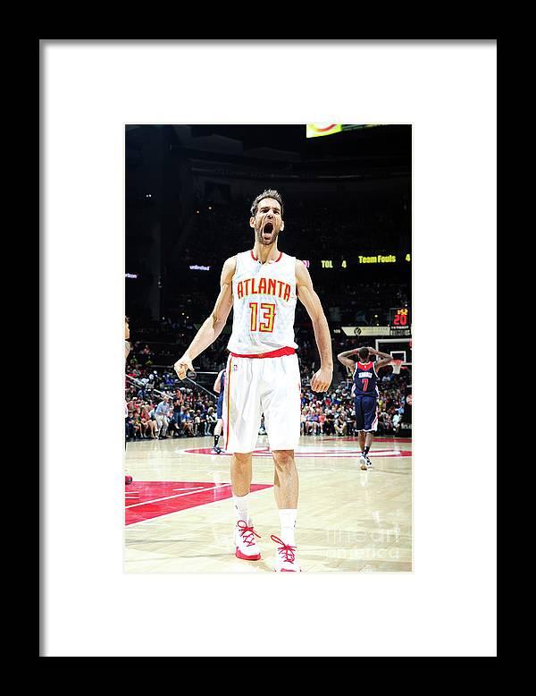 Atlanta Framed Print featuring the photograph Washington Wizards V Atlanta Hawks - by Scott Cunningham