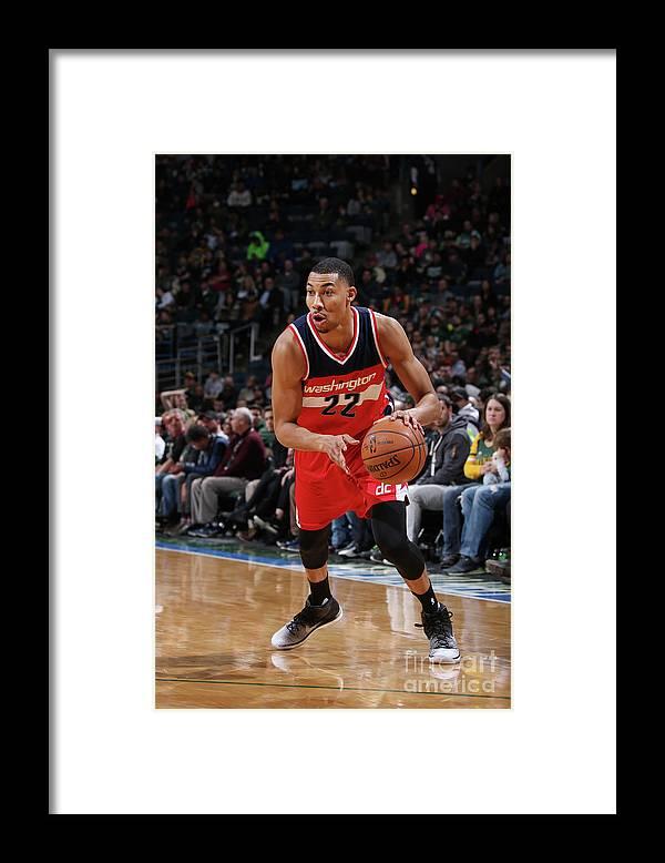 Nba Pro Basketball Framed Print featuring the photograph Washington Wizards V Milwaukee Bucks by Gary Dineen