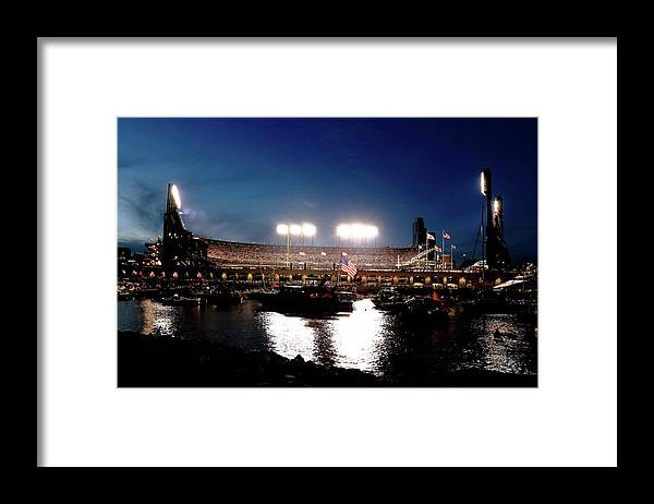 San Francisco Framed Print featuring the photograph World Series - Kansas City Royals V San by Rob Carr