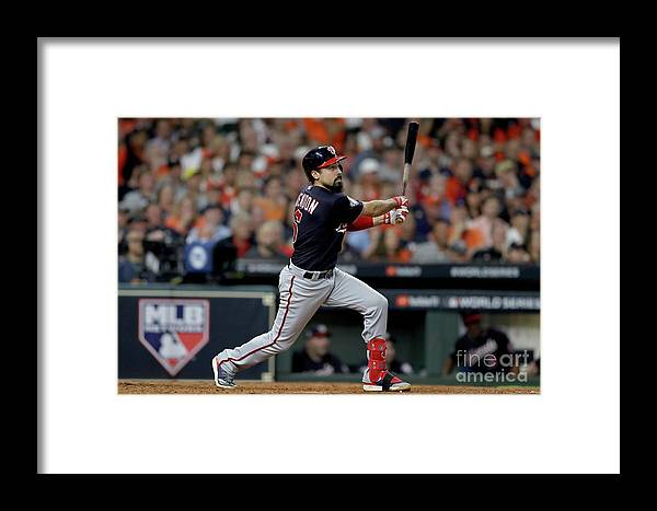 American League Baseball Framed Print featuring the photograph World Series - Washington Nationals V 4 by Elsa