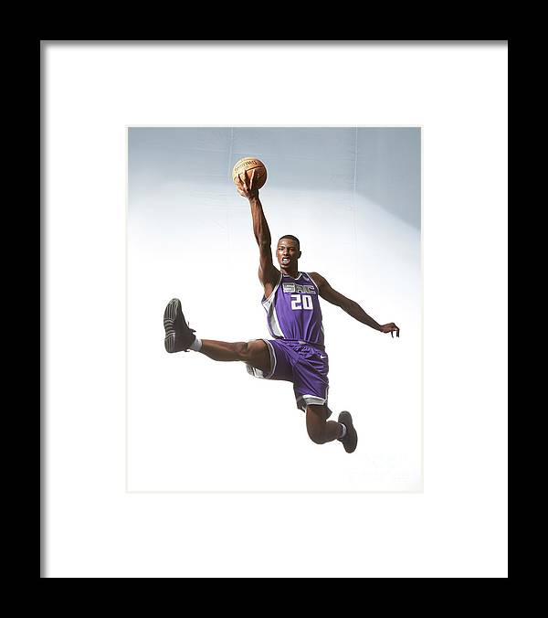 Nba Pro Basketball Framed Print featuring the photograph Rookie Photo Shoot 2017 by Nathaniel S. Butler