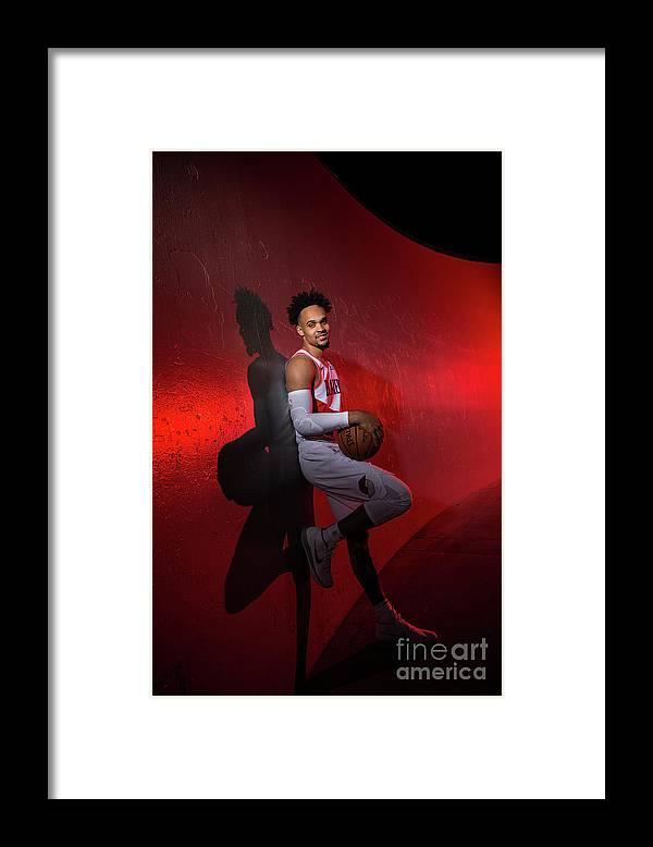 Media Day Framed Print featuring the photograph 2018-2019 Portland Trail Blazers Media by Sam Forencich