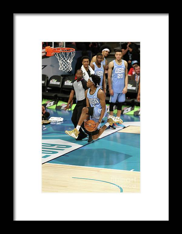 Nba Pro Basketball Framed Print featuring the photograph 2019 Mtn Dew Ice Rising Stars 5 by Kent Smith