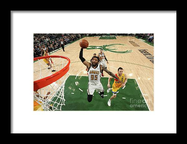 Nba Pro Basketball Framed Print featuring the photograph Atlanta Hawks V Milwaukee Bucks by Gary Dineen