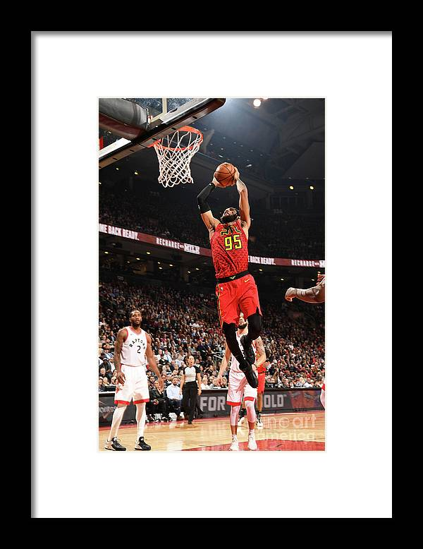 Nba Pro Basketball Framed Print featuring the photograph Atlanta Hawks V Toronto Raptors by Ron Turenne