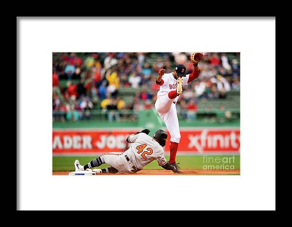 People Framed Print featuring the photograph Baltimore Orioles V Boston Red Sox 5 by Billie Weiss/boston Red Sox