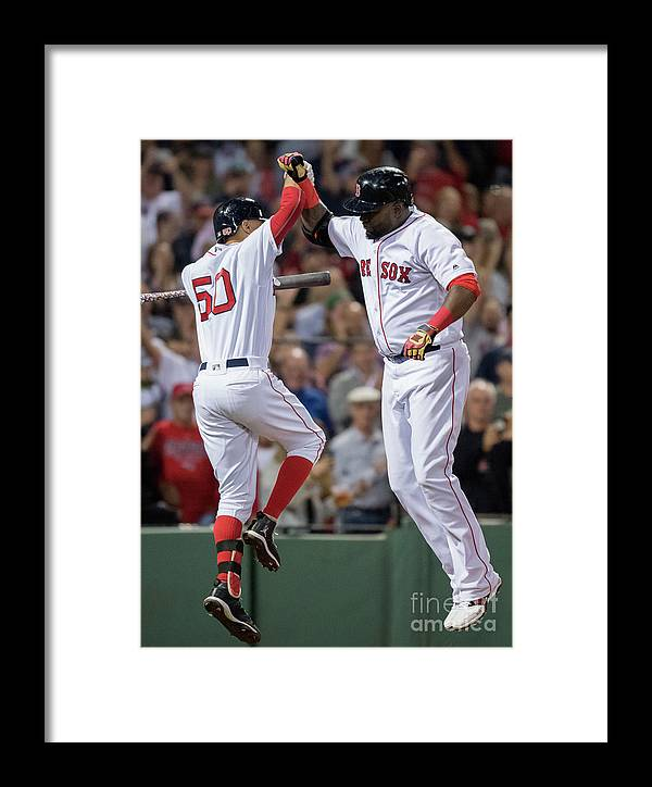 People Framed Print featuring the photograph Baltimore Orioles V Boston Red Sox 5 by Michael Ivins/boston Red Sox