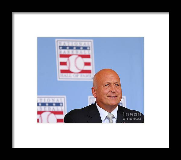 People Framed Print featuring the photograph Baseball Hall Of Fame Induction Ceremony by Elsa