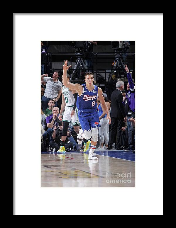 Nba Pro Basketball Framed Print featuring the photograph Boston Celtics V Sacramento Kings by Rocky Widner