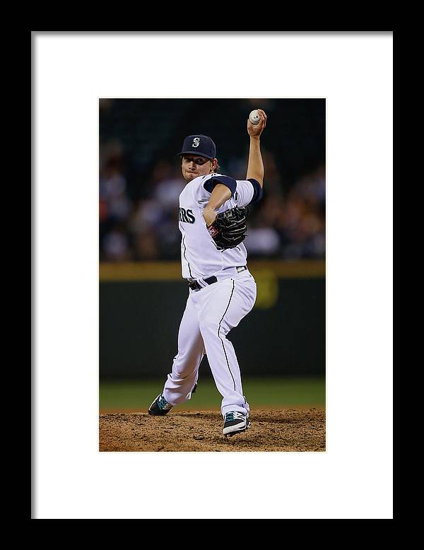 American League Baseball Framed Print featuring the photograph Boston Red Sox V Seattle Mariners by Otto Greule Jr