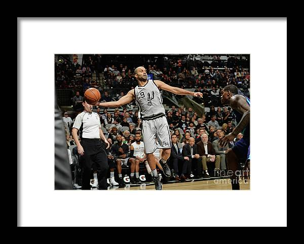Nba Pro Basketball Framed Print featuring the photograph Charlotte Hornets V San Antonio Spurs by Mark Sobhani