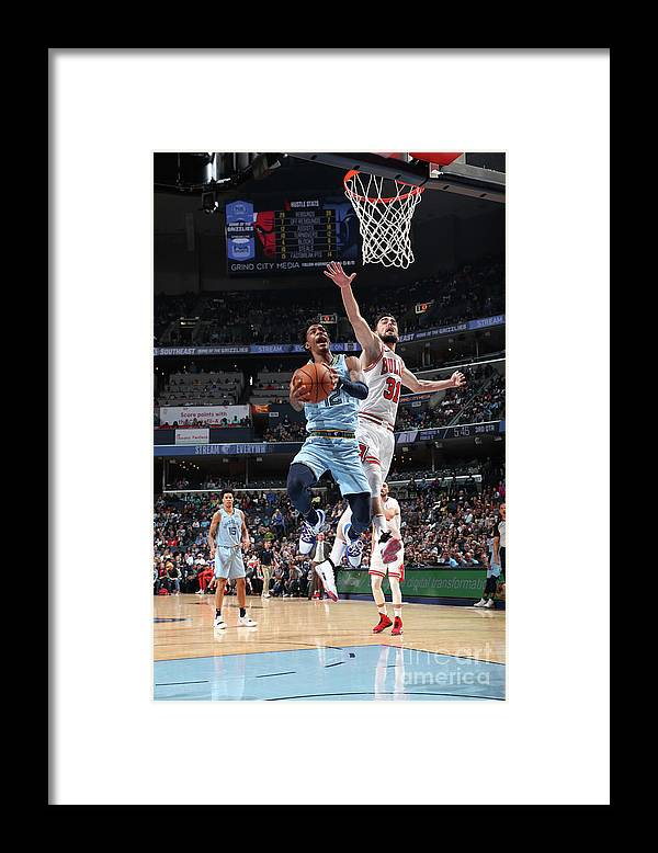 Nba Pro Basketball Framed Print featuring the photograph Chicago Bulls V Memphis Grizzlies by Joe Murphy