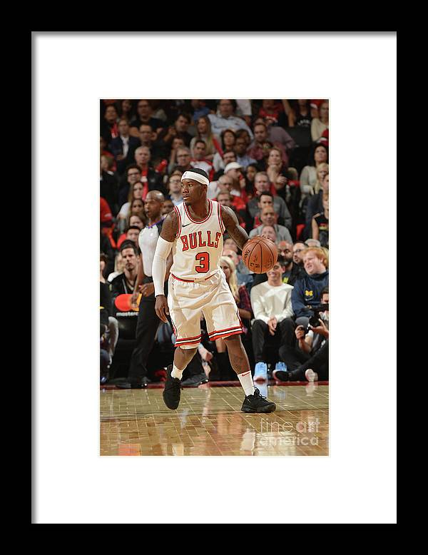 Nba Pro Basketball Framed Print featuring the photograph Chicago Bulls V Toronto Raptors by Ron Turenne