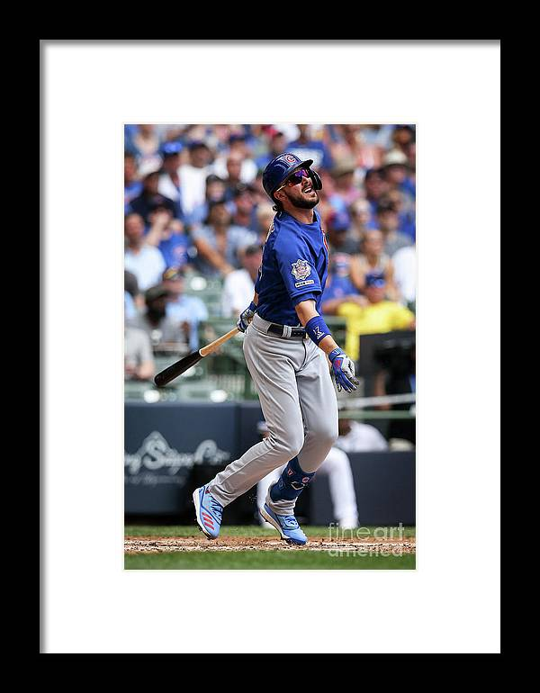 People Framed Print featuring the photograph Chicago Cubs V Milwaukee Brewers 5 by Dylan Buell
