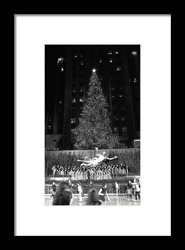 Holiday Framed Print featuring the photograph Christmas Tree At Rockefeller Center by Bettmann