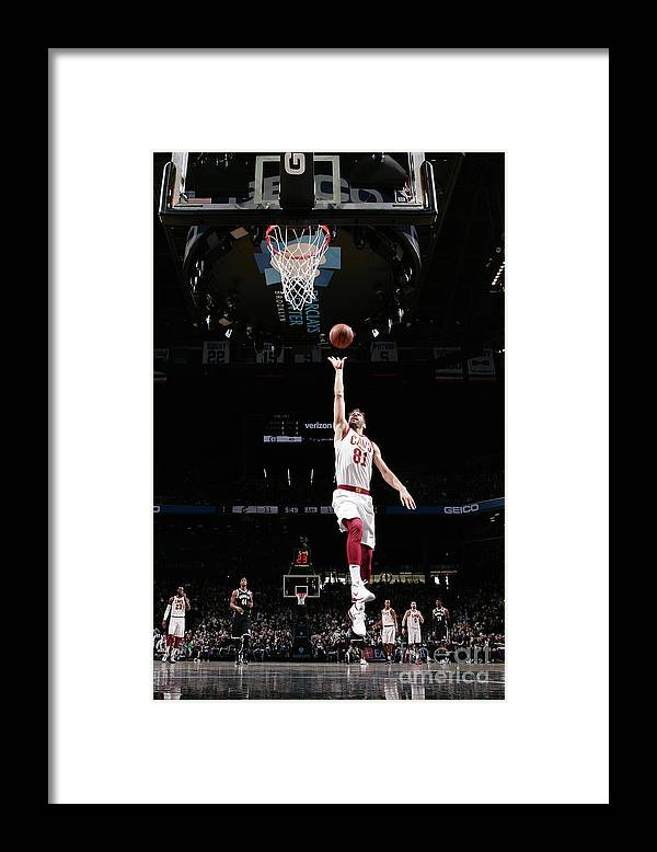 Nba Pro Basketball Framed Print featuring the photograph Cleveland Cavaliers V Brooklyn Nets by Nathaniel S. Butler