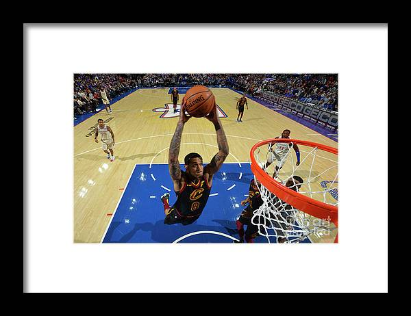 Nba Pro Basketball Framed Print featuring the photograph Cleveland Cavaliers V Philadelphia 76ers by Jesse D. Garrabrant