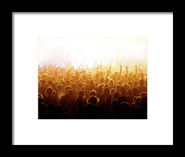 Rock Music Framed Print featuring the photograph Concert Crowd by Alenpopov