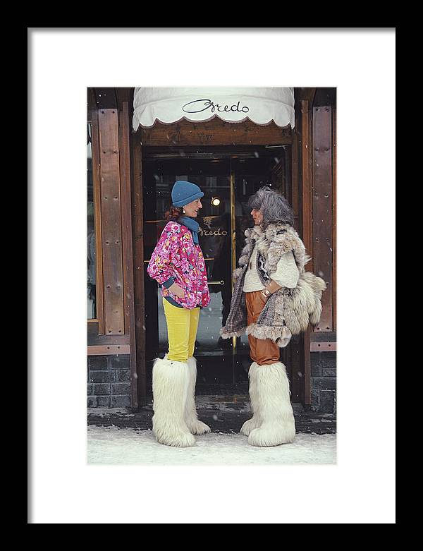 1980-1989 Framed Print featuring the photograph Cortina Dampezzo by Slim Aarons