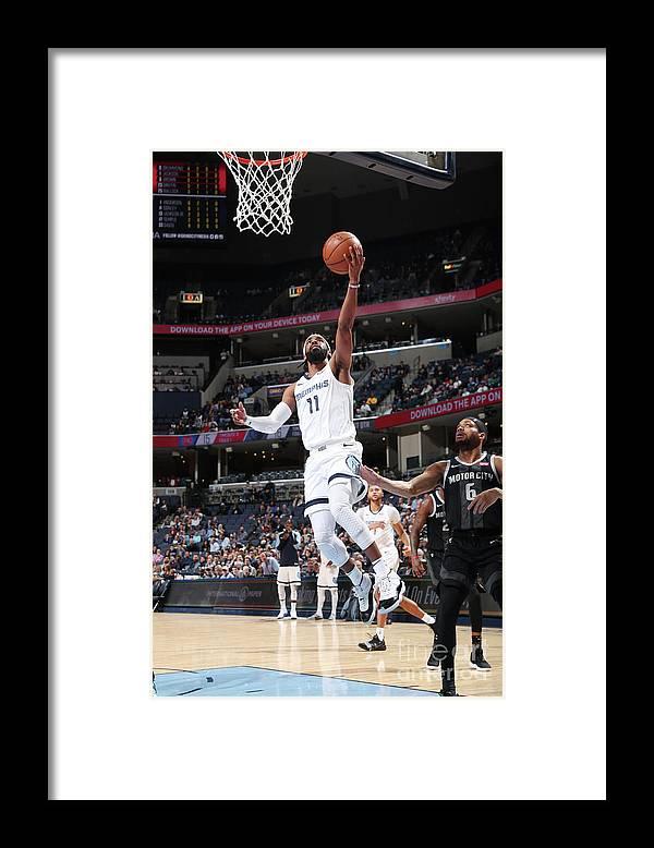 Nba Pro Basketball Framed Print featuring the photograph Detroit Pistons V Memphis Grizzlies by Joe Murphy