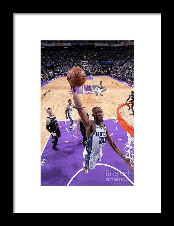 Nba Pro Basketball Framed Print featuring the photograph Detroit Pistons V Sacramento Kings by Rocky Widner