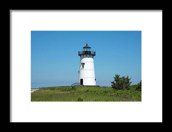 "Martha's Vineyard Lighthouses"" Framed Print featuring the photograph Edgartown Harbor Light - Martha's Vineyard by Brendan Reals"