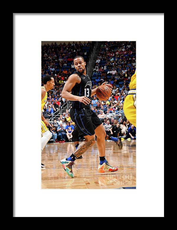 Nba Pro Basketball Framed Print featuring the photograph Golden State Warriors V Orlando Magic by Fernando Medina