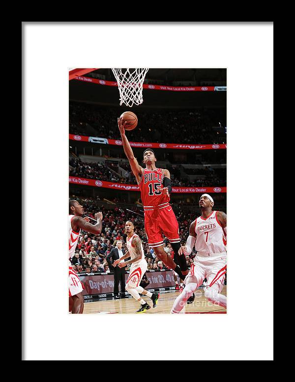 Nba Pro Basketball Framed Print featuring the photograph Houston Rockets V Chicago Bulls by Gary Dineen