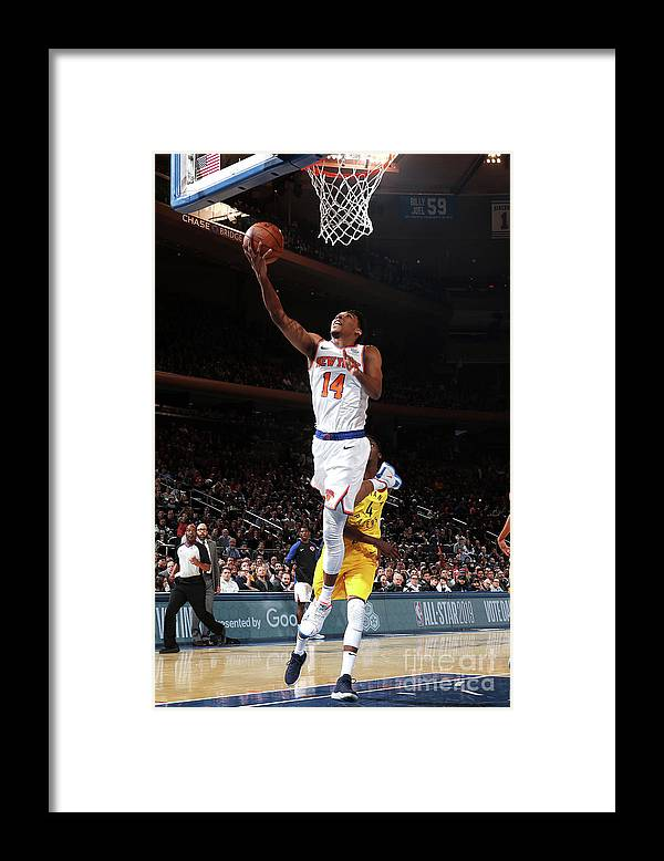 Nba Pro Basketball Framed Print featuring the photograph Indiana Pacers V New York Knicks by Nathaniel S. Butler