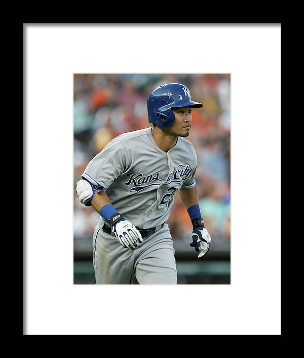 American League Baseball Framed Print featuring the photograph Kansas City Royals V Detroit Tigers by Duane Burleson