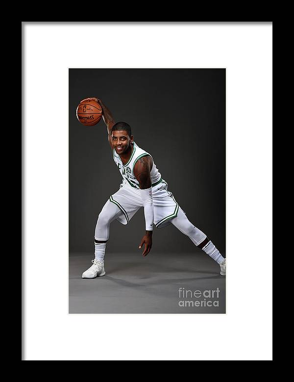 Nba Pro Basketball Framed Print featuring the photograph Kyrie Irving Boston Celtics Portraits by Brian Babineau
