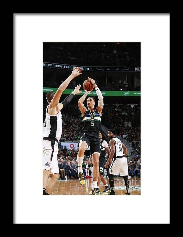 Nba Pro Basketball Framed Print featuring the photograph La Clippers V Milwaukee Bucks by Gary Dineen
