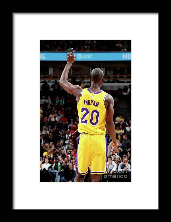 Andre Ingram Framed Print featuring the photograph Los Angeles Lakers V Chicago Bulls by Nathaniel S. Butler