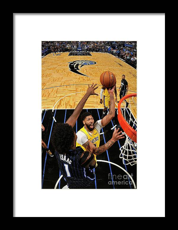 Nba Pro Basketball Framed Print featuring the photograph Los Angeles Lakers V Orlando Magic by Fernando Medina