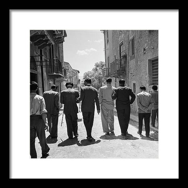 Sicily Framed Print featuring the photograph Lucky Luciano by Slim Aarons