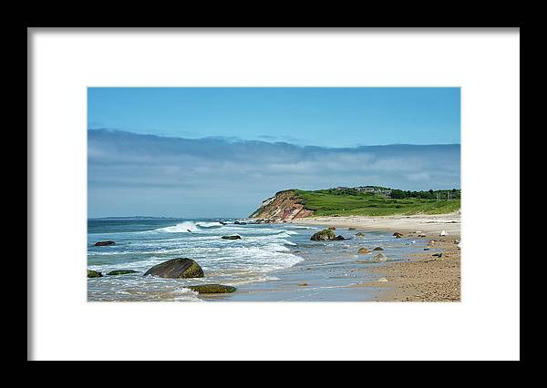 "Martha's Vineyard"" Framed Print featuring the photograph Martha's Vineyard - Moshup And Aquinnah Beaches by Brendan Reals"
