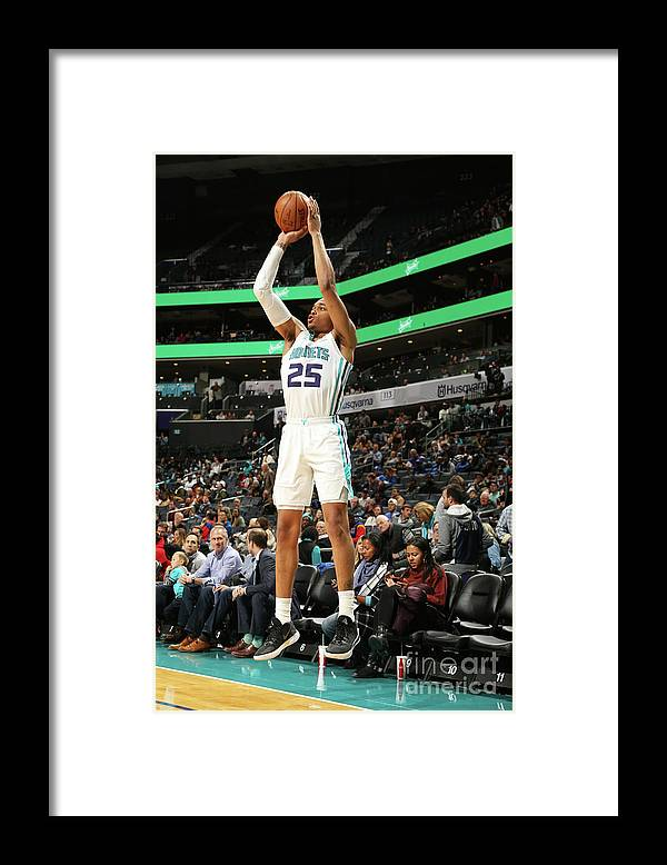 Nba Pro Basketball Framed Print featuring the photograph Memphis Grizzlies V Charlotte Hornets by Kent Smith