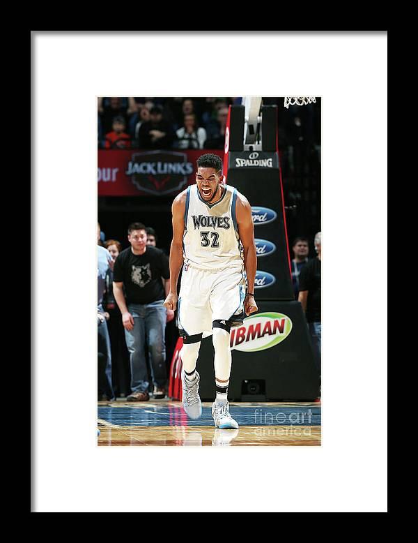 Nba Pro Basketball Framed Print featuring the photograph Milwaukee Bucks V Minnesota Timberwolves by David Sherman