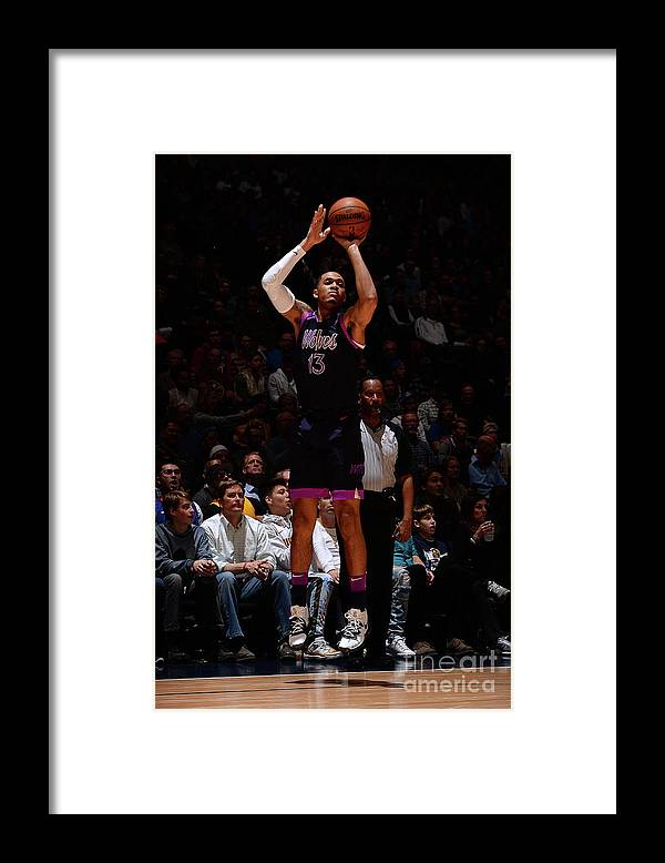 Nba Pro Basketball Framed Print featuring the photograph Minnesota Timberwolves V Denver Nuggets by Bart Young