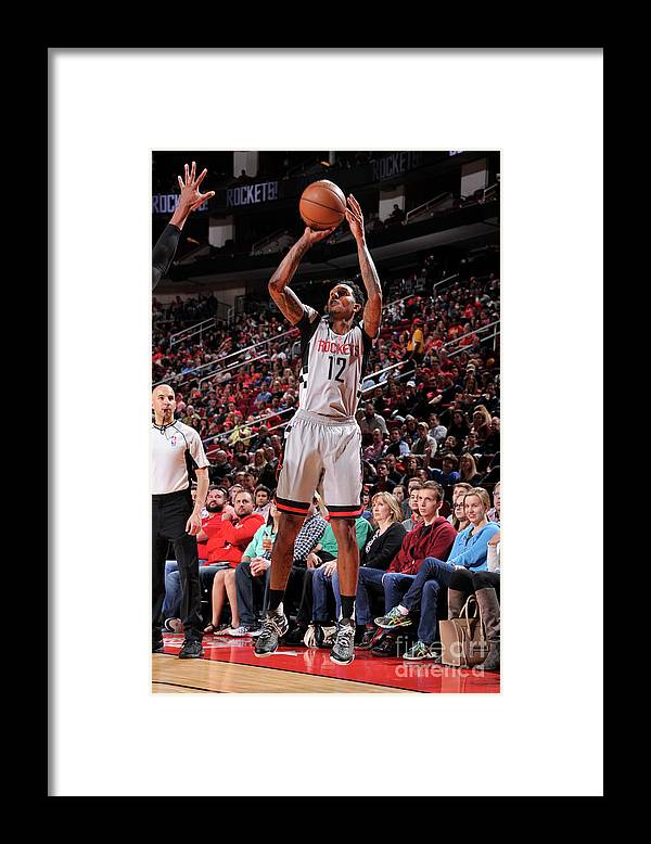 Nba Pro Basketball Framed Print featuring the photograph Minnesota Timberwolves V Houston Rockets by Bill Baptist