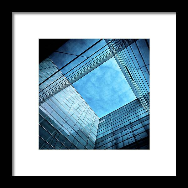 Office Framed Print featuring the photograph Modern Glass Architecture by Nikada