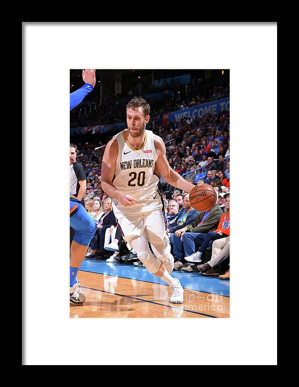 Nba Pro Basketball Framed Print featuring the photograph New Orleans Pelicans V Oklahoma City by Bill Baptist