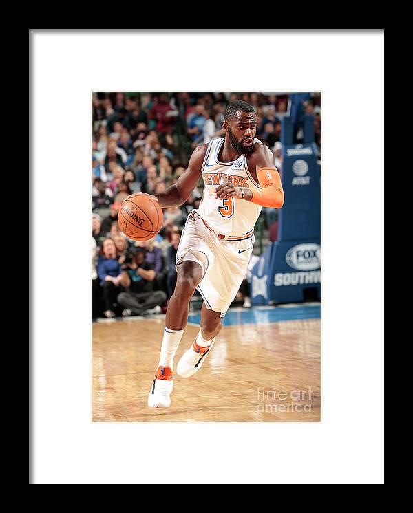 Tim Hardaway Jr. Framed Print featuring the photograph New York Knicks V Dallas Mavericks by Glenn James
