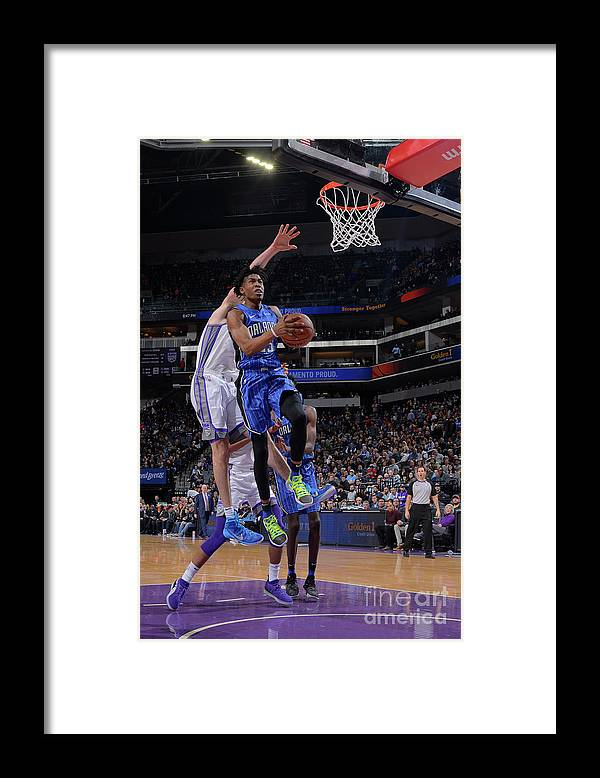 Nba Pro Basketball Framed Print featuring the photograph Orlando Magic V Sacramento Kings by Rocky Widner