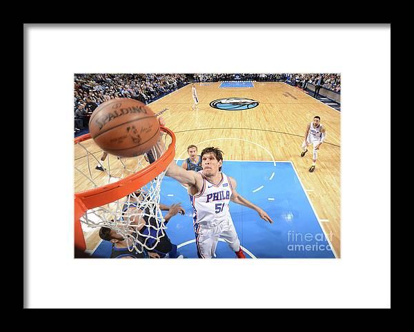 Nba Pro Basketball Framed Print featuring the photograph Philadelphia 76ers V Dallas Mavericks by Glenn James