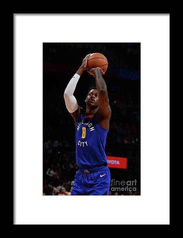 Nba Pro Basketball Framed Print featuring the photograph Phoenix Suns V Denver Nuggets by Bart Young