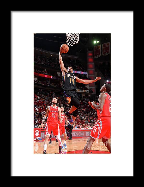 Nba Pro Basketball Framed Print featuring the photograph Phoenix Suns V Houston Rockets by Bill Baptist