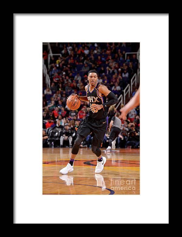 Nba Pro Basketball Framed Print featuring the photograph Portland Trail Blazers V Phoenix Suns by Barry Gossage
