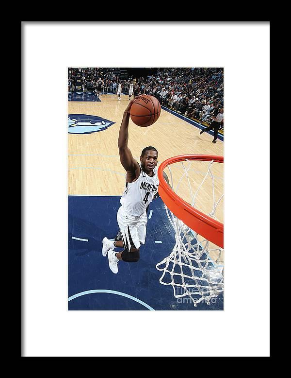 Nba Pro Basketball Framed Print featuring the photograph Sacramento Kings V Memphis Grizzlies by Joe Murphy